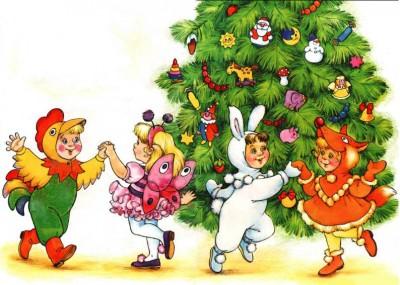 Встреча Нового года в детском саду.